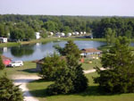 View larger image of Aerial view over campground at MARK TWAIN LANDING image #4
