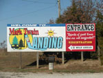 View larger image of Large welcome sign beside the road at MARK TWAIN LANDING image #10
