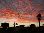 View larger image of Beautiful neon orange and purple clouds at sunset above campground at SHANGRI-LA RV RESORT image #5