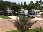 View larger image of RVs and trailers at campground at EMERALD COAST RV BEACH RESORT image #8