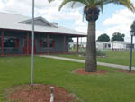 View larger image of Red and gray painted front office at LITTLE WILLIES RV RESORT image #4