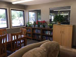 View larger image of Library in lodge at HOUSTON WEST RV PARK image #5