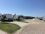 View larger image of Gravel road leading into RV park at HOUSTON WEST RV PARK image #8