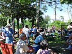 View larger image of Campers eating at JUDE TRAVEL PARK OF NEW ORLEANS image #3