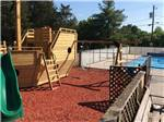 View larger image of Playground with swing set at VOLUNTEER PARK FAMILY CAMPGROUND image #6