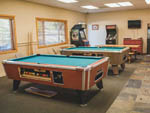 View larger image of Pool tables in game room at CANNON BEACH RV RESORT image #4