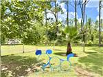 View larger image of Covered picnic area set up beside trailer at STAGECOACH RV PARK image #9