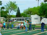 View larger image of People playing shuffleboard at ALAMO ROSE RV RESORT image #7