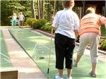 View larger image of Campers playing shuffleboard at LEDGEVIEW RV PARK image #9
