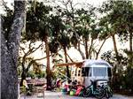 View larger image of An Airstream trailer surrounded by camping eqiupment at HILTON HEAD HARBOR RV RESORT  MARINA image #11
