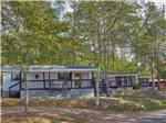 View larger image of A row of the camping cabins for rent at CLABOUGHS CAMPGROUND image #6