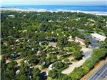 View larger image of Lovely aerial view of green trees and ocean at HECETA BEACH RV PARK image #1