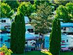 View larger image of Aerial view over campground at CARSON VALLEY RV RESORT  CASINO image #1