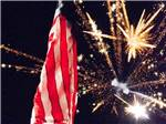 View larger image of Fireworks and American flag at LEISURE ACRES CAMPGROUND image #3