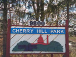 View larger image of Sign at entrance to RV park at CHERRY HILL PARK image #12
