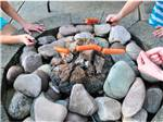 View larger image of Campers roasting hot dogs at PREMIER RV RESORTS - EUGENE image #8