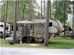 View larger image of A fifth wheel parked in a grassy site at DORSET RV PARK image #3