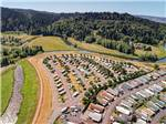 View larger image of Aerial view of park with surrounding creeks at BROOKHOLLOW RV PARK image #1
