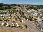 View larger image of Aerial view of park paved roads at BROOKHOLLOW RV PARK image #4