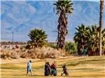View larger image of Men golfing at TWENTYNINE PALMS RESORT RV PARK AND COTTAGES image #3