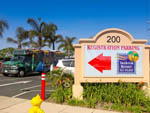 View larger image of Sign at entrance to RV park at ANAHEIM RV PARK image #2