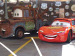 View larger image of Lightning McQueen  Mater display cars at ANAHEIM RV PARK image #3