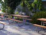 View larger image of Patio area with picnic tables at ANAHEIM RV PARK image #9