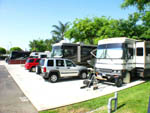 View larger image of Silver Jeep Liberty parked in front of RV at ANAHEIM RV PARK image #11