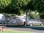 View larger image of Tent and trailers camping at ANAHEIM RV PARK image #12