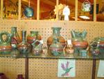 View larger image of Decorated pottery at convenience store at THOUSAND LAKES RV PARK  CAMPGROUND image #3