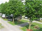 View larger image of Aerial view of gravel walkway  at FORT CHISWELL RV PARK image #5
