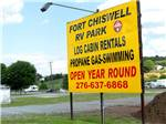 View larger image of Sign at entrance to RV park at FORT CHISWELL RV PARK image #9