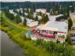 View larger image of Aerial view of the park at RIVERS EDGE RV PARK  CAMPGROUND image #2