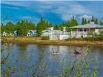 View larger image of Two kayakers on the river  at RIVERS EDGE RV PARK  CAMPGROUND image #3