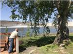 View larger image of Man taking in the view at UMATILLA MARINA  RV PARK image #5