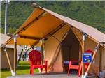 View larger image of A row of parked RVs in front of mountains at EAGLES REST RV PARK  CABINS image #4