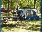 View larger image of Picnic bench and tent camping at CAMP SANDUSKY image #2