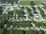 View larger image of Amazing aerial view over resort at CLARKSVILLE RV PARK  CAMPGROUND image #1