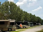 View larger image of RVs parked in a row at CLARKSVILLE RV PARK  CAMPGROUND image #9