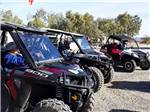View larger image of A line of ATVs ready to go at WAGON WEST RV PARK image #3