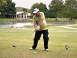 View larger image of Man golfing at KERRVILLE CONVENTION  VISITORS BUREAU image #1