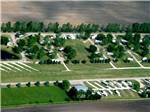 View larger image of Aerial view of the RV resort at LEHMANS LAKESIDE RV RESORT image #2