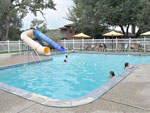 View larger image of Kids swimming in the pool at BAYOU WILDERNESS RV RESORT image #5