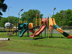 View larger image of Large park playground area at BAYOU WILDERNESS RV RESORT image #9