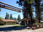 View larger image of Sign at entrance to RV park at PIONEER RV PARK image #3