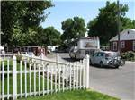 View larger image of Picket fence area in front of office at BILLINGS VILLAGE RV PARK image #3
