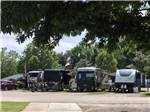 View larger image of Trailers camping at OUTDOOR LIVING CENTER RV PARK image #1