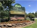 View larger image of Sign at entrance to RV park at THE VILLAGES AT TURNING STONE RV PARK image #6