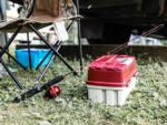 View larger image of A row of camping trailers and motorhomes parked at CREEKSIDE RV PARK image #7