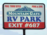 View larger image of Sign leading into RV park at MOUNTAIN GATE RV PARK image #9